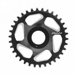 FUNN Corona Singola 34 Denti - SOLO ES E-Bike - Nera