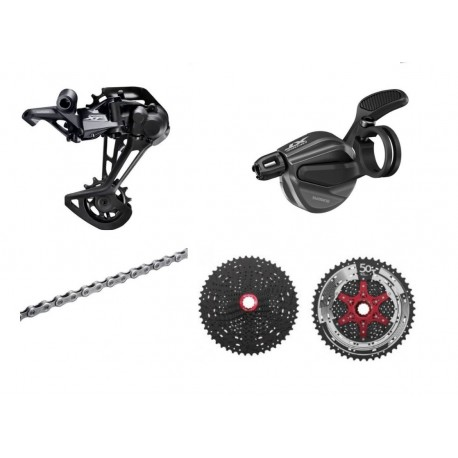 Shimano XT 1x11-speed Upgrade-Kit with 11-42 I-Spec-B