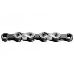 """KMC, Catena, X9 Silver/Grey,  colore argento/nero, 114 link, per 9-vel., rivestimento in Nickel, misure: 1/2""""x11/128"""", conf. ori"""