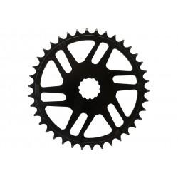 "KMC, Corona, Bosch Gen.3, 38T, 11/128"", chainline: 50,5mm, materiale: Chromoly, colore: nero, direct mount"