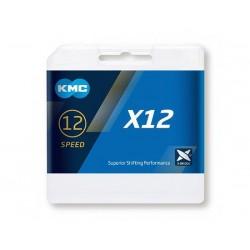 Catena KMC X12 12 velocità 126 maglie silver/nero