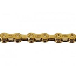 Catena YBN S12 TIG 12 velocità 126 maglie Hollow Pin oro