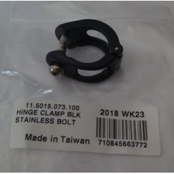 Hinge Clamp Blk Stainless Bolt