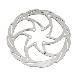 Disco freno Formula Monolitic 6 fori 180mm silver